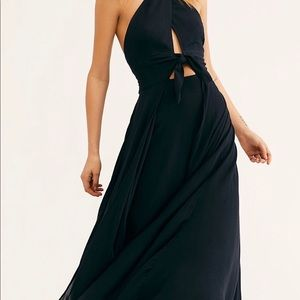 Free people black Maxie halter dress